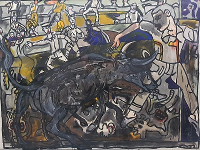 Bouvine par Robert Combas 1991 chez Dock Sud